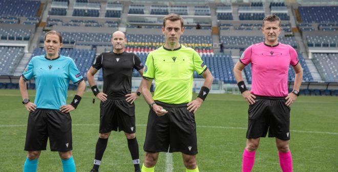 Football – Macron dévoile les maillots des arbitres de l'UEFA Euro 2020