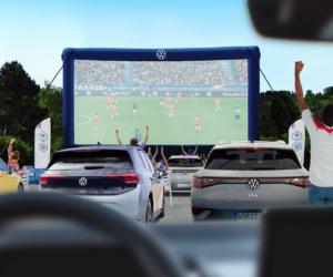 Fan Experience – Volkswagen organise un «Drive-In» à Clairefontaine pour le match de l'Euro 2020 France – Allemagne