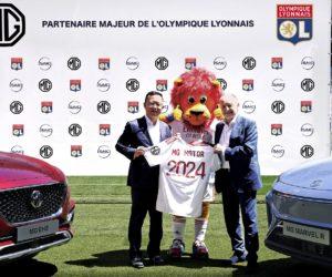 Le constructeur automobile MG Motor nouveau sponsor manche du maillot de l'Olympique Lyonnais jusqu'en 2024