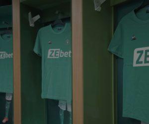 ZEbet nouveau sponsor maillot face de l'ASSE jusqu'au moins 2024
