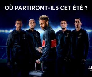Le sponsor maillot du PSG ALL met en scène le départ de Neymar et Verratti cet été avec «Summer Move»