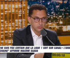 Droits TV Ligue 1 Uber Eats – Que retenir de l'interview de Maxime Saada (Canal+) dans l'After Foot ?