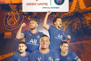 Sponsoring – Le PSG accueille la marque de cigarettes électroniques Geekvape comme nouveau partenaire officiel