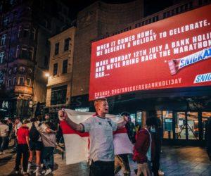 Euro 2020 – Snickers lance une pétition pour demander un jour férié en Angleterre lundi 12 juillet pour célébrer «when it comes home»