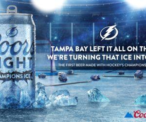 NHL – Coors Light célèbre le titre du Lightning de Tampa Bay avec une bière à base de glace de la patinoire