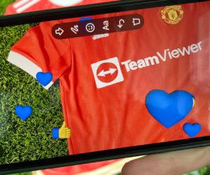 Manchester United dévoile son nouveau maillot 2021-2022 floqué de son nouveau sponsor TeamViewer