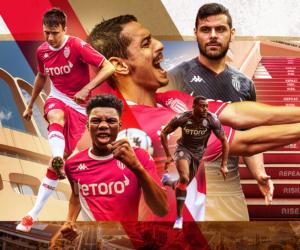 Kappa dévoile les nouveaux maillots de l'AS Monaco pour la saison 2021-2022