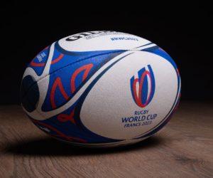 Gilbert dévoile le ballon officiel de la Coupe du Monde de Rugby France 2023