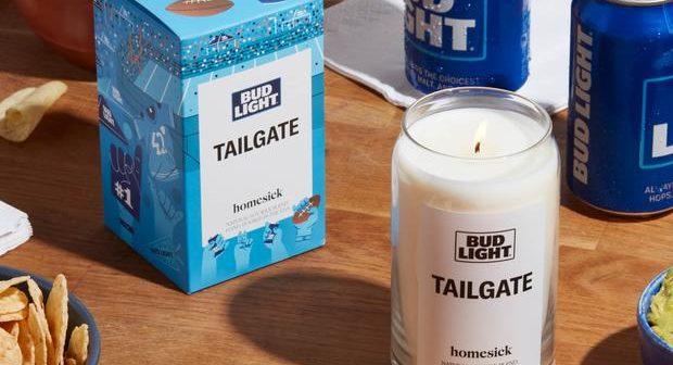 NFL / Activation : Bud Light et Homesick sortent une bougie parfumée qui pue le foot US et le «Tailgating»