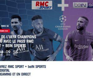 UEFA Champions League 2021-2022 : Un pack RMC Sport + beIN SPORTS à 19€ par mois pendant 1 an
