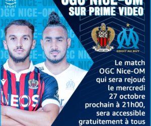 Ligue 1 – Le match OGC Nice -OM sera gratuit pour les membres Amazon Prime