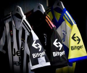 Bitget premier sponsor de l'histoire de la Juventus présent sur la manche