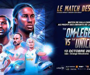 Les diffuseurs et les partenaires du match des Héros (OM Legends vs Unicef)