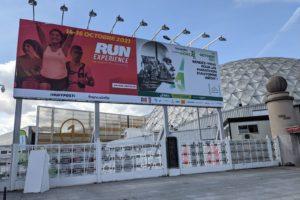 Les exposants du salon du running «Run Experience» pour le Marathon de Paris 2021